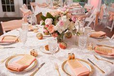 Peach gold reception