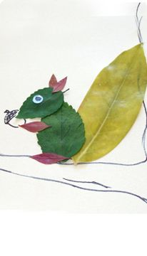 Leaf Squirrel Craft - very cute for Fall