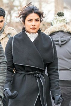Priyanka Chopra - On set filming 'Quantico' in NYC Russell Tovey, Old Cell Phones, Joe Russo, Lilly Singh, Richard Madden, Now And Then Movie, Rachel Ray, Stephen Colbert, Action Film