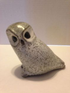 Vintage Pigeon Forge Pottery Tennessee Speckled Owl EUC