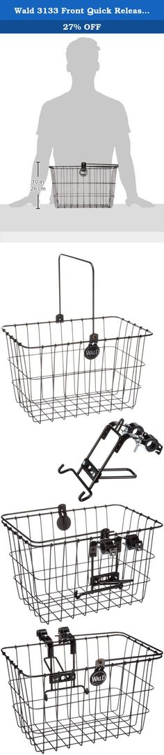 Sunlite Wire Steel Mesh Front Bicycle Basket Red Carrier Colorful Shopping