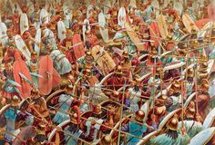 """An illustration from Osprey's book """"Zama 202 BC: SCIPIO CRUSHES HANNIBAL IN NORTH AFRICA"""" (Campaign 299) by Mir Bahmanyar. Artwork by maestro Peter Dennis."""