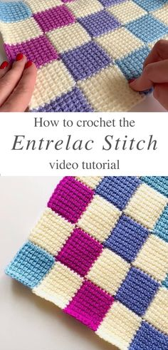Crochet stitches 556687203940681764 - Learn Making The Crochet Entrelac Stitch Tunisian Crochet Patterns, Tunisian Crochet Blanket, Crochet Patterns For Beginners, Knitting Tutorials, Crochet Granny, Knitting Patterns, Crochet World, Puff Stitch Crochet, Free Crochet
