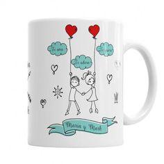 Taza para Ella Tu Amor me hace Volar - regalo original para San Valentín , aniversario o cualquier ocasión especial - completamente personalizado