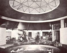 Vista de la estancia, Casa Habitación, Ajusco 51, Col. Tlacopac, México DF 1961 Arqs. Carlos Ortega y Estefanía Chávez de Ortega View of the living rom of a house in Tlacopac, Mexico City 1961