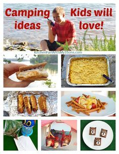 Camping Recipes & Ideas that Kids will love from KitchenFunWithMy3Sons.com