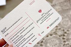 Bespoke Letterpress funny letterpress RSVP card