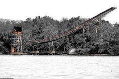 Abandoned Conveyor to Nowhere, Delaware River, Delanco, NJ.