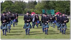 pipeband marching in