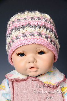 This pretty little textured hat is named after a very special young lady in my world.