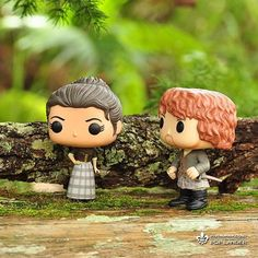 """""""What's got into you, woman, talking to Angus that way?"""" """"Angus can kiss my English arse."""" """"Aye, he's a clarty bastard, but those are fighting words."""" """"Well, where I come from, we don't..."""" """"It doesn't matter where you come from. You're here."""" _ #outlander #outlanderseries #outlanderstarz #jamiefraser #clairefraser #funko #funkopop #popvinyl #popvinyls"""