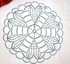 Crochet Doily Heart - Chart ❥ 4U // http://www.pinterest.com/hilariafina/