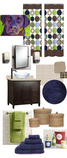 Guest & Kids' Bathroom Mood Board Makeover