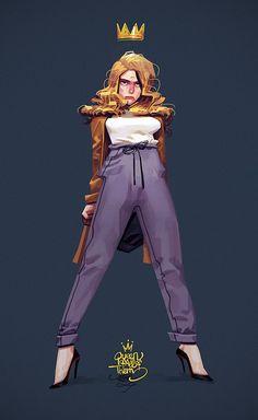 Illustration by Joslin Lapin Character Design Girl, Character Design References, Character Design Inspiration, Character Art, Animation Character, Character Sketches, Pretty Art, Cute Art, Character Illustration