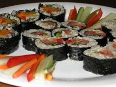 Homemade Sushi. A great basic way to start making it.