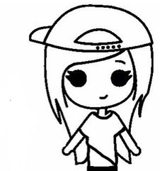 Hipster Chibi Easy People Drawings Cool Bff Art Sketches