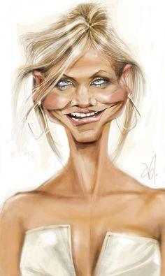 caricature of Natural Cameron Diaz Cartoon Faces, Funny Faces, Cartoon Art, Caricature Artist, Caricature Drawing, Funny Caricatures, Celebrity Caricatures, Cameron Diaz, Wow Art