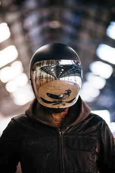 can we please create a fierce-moto inspired helmet? All the riding ones look so goofy...