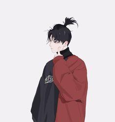 Bun by Isabelle Staub Illustration Character Inspiration, Character Art, Character Concept, Character Design, Sad Anime, Anime Guys, Manga Anime, Chibi, Manga Boy