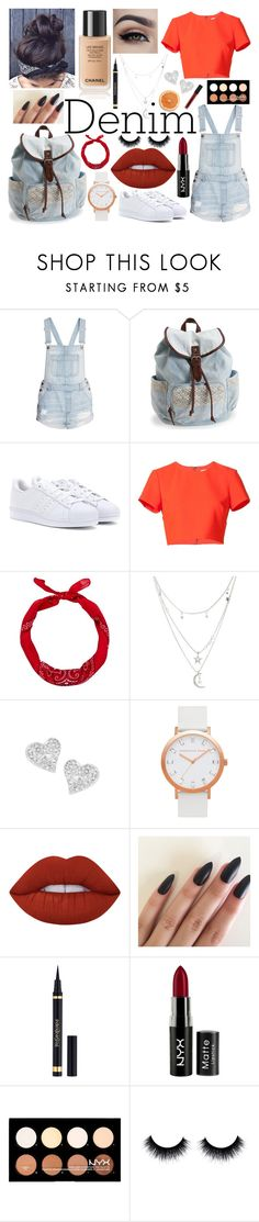 """Denim & Denim"" by minijessen ❤ liked on Polyvore featuring Aéropostale, adidas, Nicole Miller, New Look, Charlotte Russe, Vivienne Westwood, Lime Crime, Yves Saint Laurent, NYX and Smashbox"
