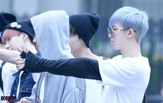 150508 BTS on the way to Music Bank