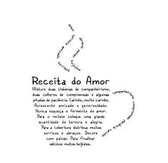 "(Concrete) Poem: ""Receita do amor"" / ""Récipé of Love"""