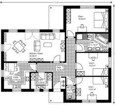 Winkelbungalow mit hems und satteldach d nisches for Haus bauen 120qm