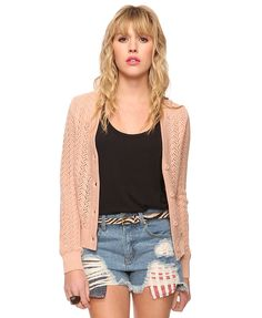 Sheer Cardigan Sweater   FOREVER21 - 2000033341    Sheer cardigans are great for spring and early fall weather. They give coverage without the heaviness.
