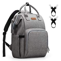 Amazon.com   Diaper Bag Backpack Nappy Bag Upsimples Baby Bags for Mom  Maternity Diaper Bag with USB Charging Port Stroller Straps Thermal  Pockets 0ec548db3e59b