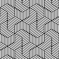 stripy chevron cubes