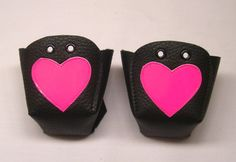 Black leather Roller Derby skate toe guards with by RedRage77, £15.00