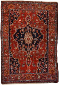 Malayer rug  Central Persia size approximately 4ft. 4in. x 6ft. 4in.