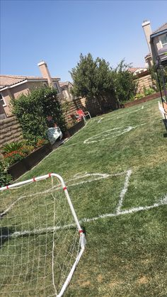 Painting Our Backyard Same As The Soccer Field!