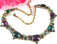 Vintage Hobe Rhinestone Necklace