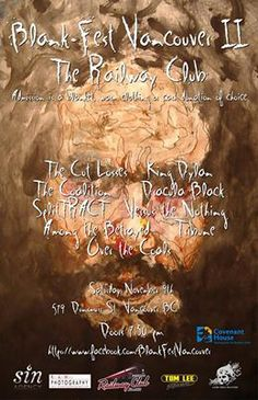 On Saturday November 9th Blank-Fest Vancouver is happening at The Railway Club! Doors are at 7:30pm, 19+, admission is a blanket, clothing and/or cash donation. Come out and support a great cause with all proceeds going to Covenant House Vancouver.
