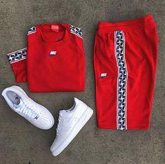 Nike Sweatsuit & Pants For Sale Sizes: USA Europien Australian & UK Sizes Avail. Swag Outfits Men, Tomboy Outfits, Teen Fashion Outfits, Outfits For Teens, Casual Outfits, Nike Outfits For Men, Dope Fashion, Fashion Pants, Hype Clothing