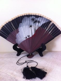 Hand painted decorative fan by AnnaJana on Etsy, $7.00