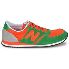 new balance 420 black with orange and green