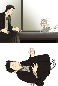 Lil son of Okikagu x Gorila Okikagu Doujinshi, Gintama Funny, Manga Anime, Anime Art, Anime Bebe, Harry Potter Anime, Anime Kunst, Cute Comics, Cute Anime Couples