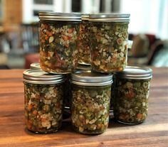Our Owner/Chef Shelley Young has been perfecting her Chicago-style Giardiniera recipe for a year. Here's the winning and fiery version! Canning Giardiniera Recipe, Chicago Style Giardiniera Recipe, Chicago Style Relish Recipe, Relish Recipes, Canning Recipes, Fermentation Recipes, Canning 101, Pressure Canning, Sauce Recipes
