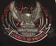 Harley Davidson Anchorage Alaska Tanktop XL Eagle Moose Legacy of Power #HarleyDavidson