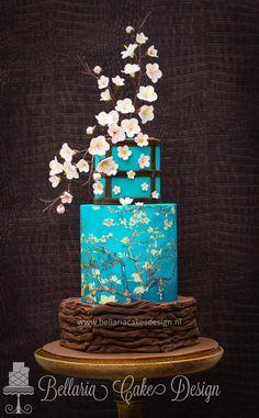 asian inspired wedding cake cherry blossom by bellaria cake design