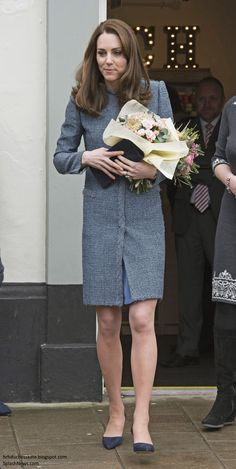 Catherine, Duchess of Cambridge officially opens the new EACH charity shop on March 18, 2016 in Holt, United Kingdom.
