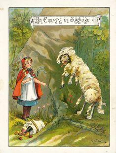 Red Riding Hood  - McLoughlin Bros. Inc. 1888. Illustrator: Richard Andre.
