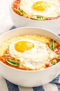 Cheesy Polenta + Marinara + Fried Egg