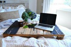Bett Tisch Laptop-Holzpaletten Möbel-selbst bauen