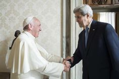 Pope Francis meets U.S. Secretary of State John Kerry at the Vatican