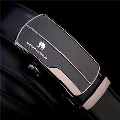 125CM Men Business Genuine Cowhide Leather Belt Durable Automatic Buckle Waistband
