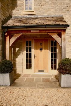 38 Ideas For Front Door Porch Canopy Patio Patio Garden Ideas On A Budget, Diy Patio, Sas Entree, Front Door Porch, Front Door Canopy, Front Porches, Porch Oak, Oak Front Door, Wooden Front Doors