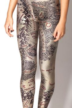 Middle Earth Map Leggings, via Black Milk (the same company that makes the R2D2 swimsuit).